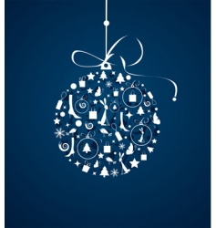 christmas ball for your design vector image vector image