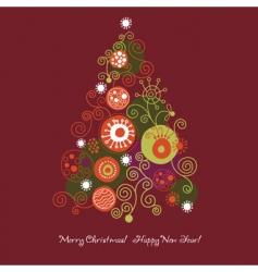 Christmas-tree vector image vector image