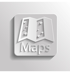 Icon map vector image