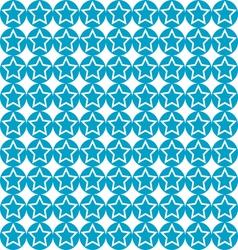seamless star on blue circle pattern background vector image