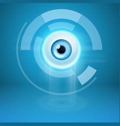 abstract background with eye vector image
