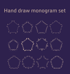 bunch of simple and elegant monogram design vector image
