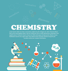 chemistry study education and science concepts vector image