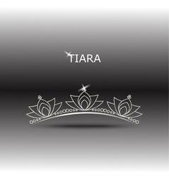 decorative tiara set 2 vector image