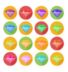 Diamond in flat design vector