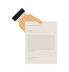 hand holding a document with text vector image