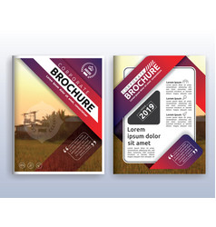 modern corporate business flyer layout design vector image vector image