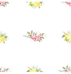 summer flower composition vector image