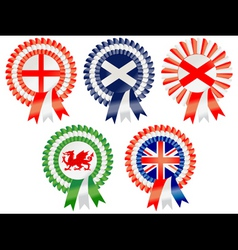 united kingdom rosettes vector image vector image