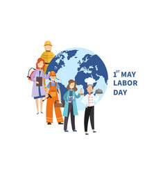 1st may labor day poster design vector image