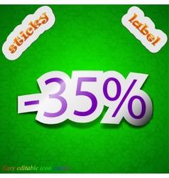 35 percent discount icon sign Symbol chic colored vector