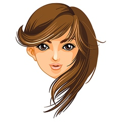 A pretty face of a woman vector image vector image