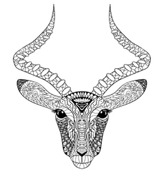 Adult coloring page for antistress art therapy vector