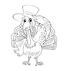 Animal outline for wild turkey vector