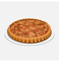 Apple strudel pie-like dish made with dough vector