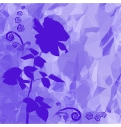 Background with Flower Rose Silhouette vector image