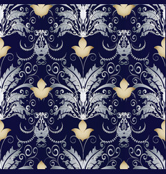 baroque vintage seamless pattern vector image
