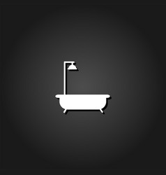 bath icon flat vector image