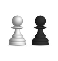 Black and white chess piece pawn vector