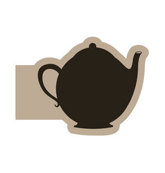 black figure teapot icon vector image