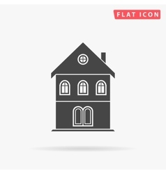 building simple flat icon vector image