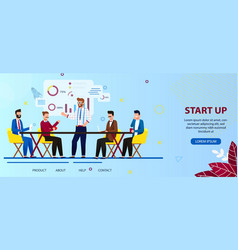 business people team work on start up technology vector image