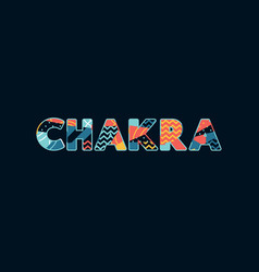 Chakra concept word art vector