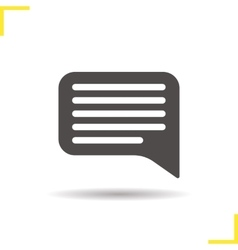Chat bubble icon vector