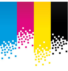 Cmyk digital colour lines background design vector