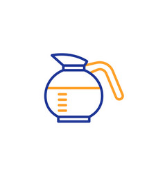 Coffeepot line icon coffee drink sign vector