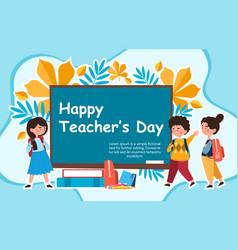 concept happy teachers day vector image