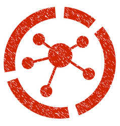 Connections diagram grunge icon vector