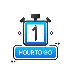 Countdown one hour to go banner count time sale vector