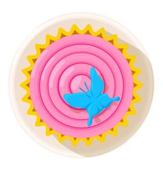 decoration sweet icon cartoon style vector image