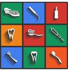 Dental theme icons vector
