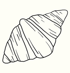 Doodle freehand sketch drawing croissant bread vector