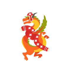 dragon symbol of new year cute animal of chinese vector image