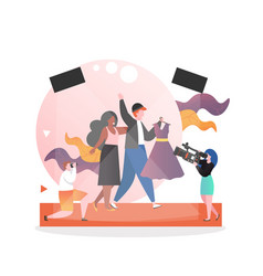 Fashion show concept for web banner vector