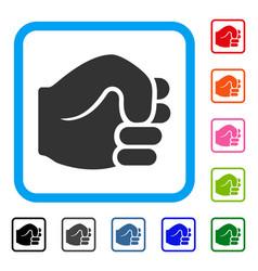 Fist framed icon vector