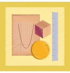 flat shading style icon geometry lesson vector image