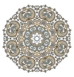 Floral circle ornament ornamental round lace vector
