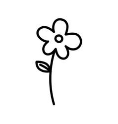 flower leaf stem decoration nature icon vector image