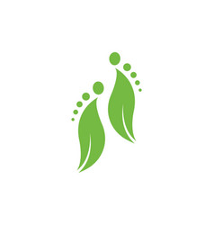 Foot logo icon vector