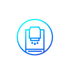hand sanitizer or antiseptic dispenser icon vector image