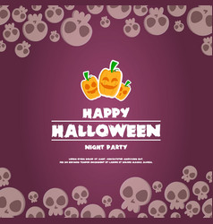 happy halloween background banner pumpkins vector image