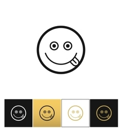 Happy smile logo or joy smiling icon vector