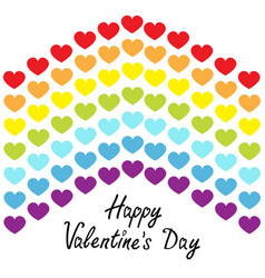 happy valentines day rainbow flag line backdrop vector image
