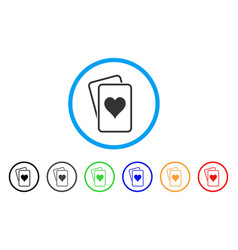Hearts gambling cards icon vector