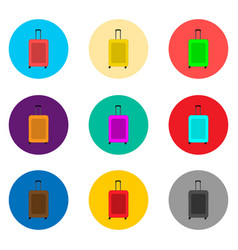 icon logo for set symbols suitcase vector image