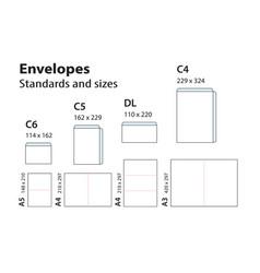 International standard envelopes for paper or vector